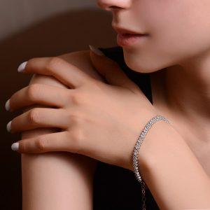 دستبند نگین نقره