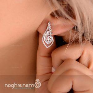 گوشواره نقره زیبا به همراه ست پلاک و زنجیر