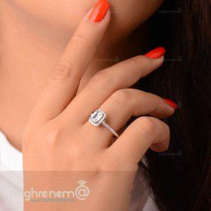 انگشتر نقره سولیتر با عیار 925 نامزدی