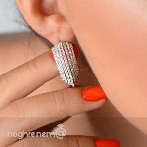 گوشواره نقره لاکچری 925